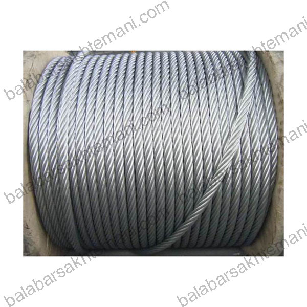 galvanized wire rope 7la - معرفی بهترین سیم بکسل بالابر ساختمانی (خرید سیم بکسل بالابر)